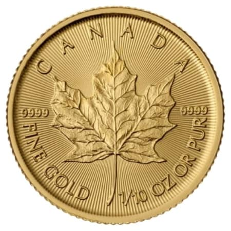 1/10 Unze Maple Leaf Goldmünze (CAN 2019)