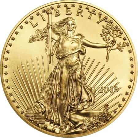 1/2 Unze American Eagle Goldmünze 2018