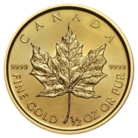 1/2 Unze Maple Leaf Goldmünze (CAN 2018)
