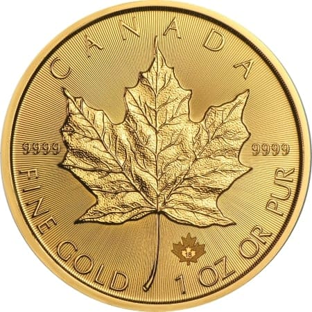 1 Unze Maple Leaf Goldmünze 2018